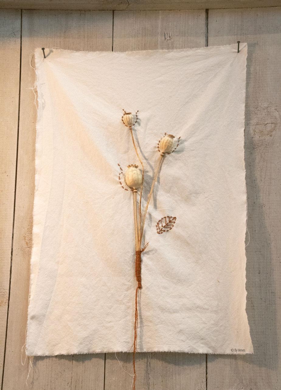 Droogbloemen op doek Ariadne at Home woondecoratie