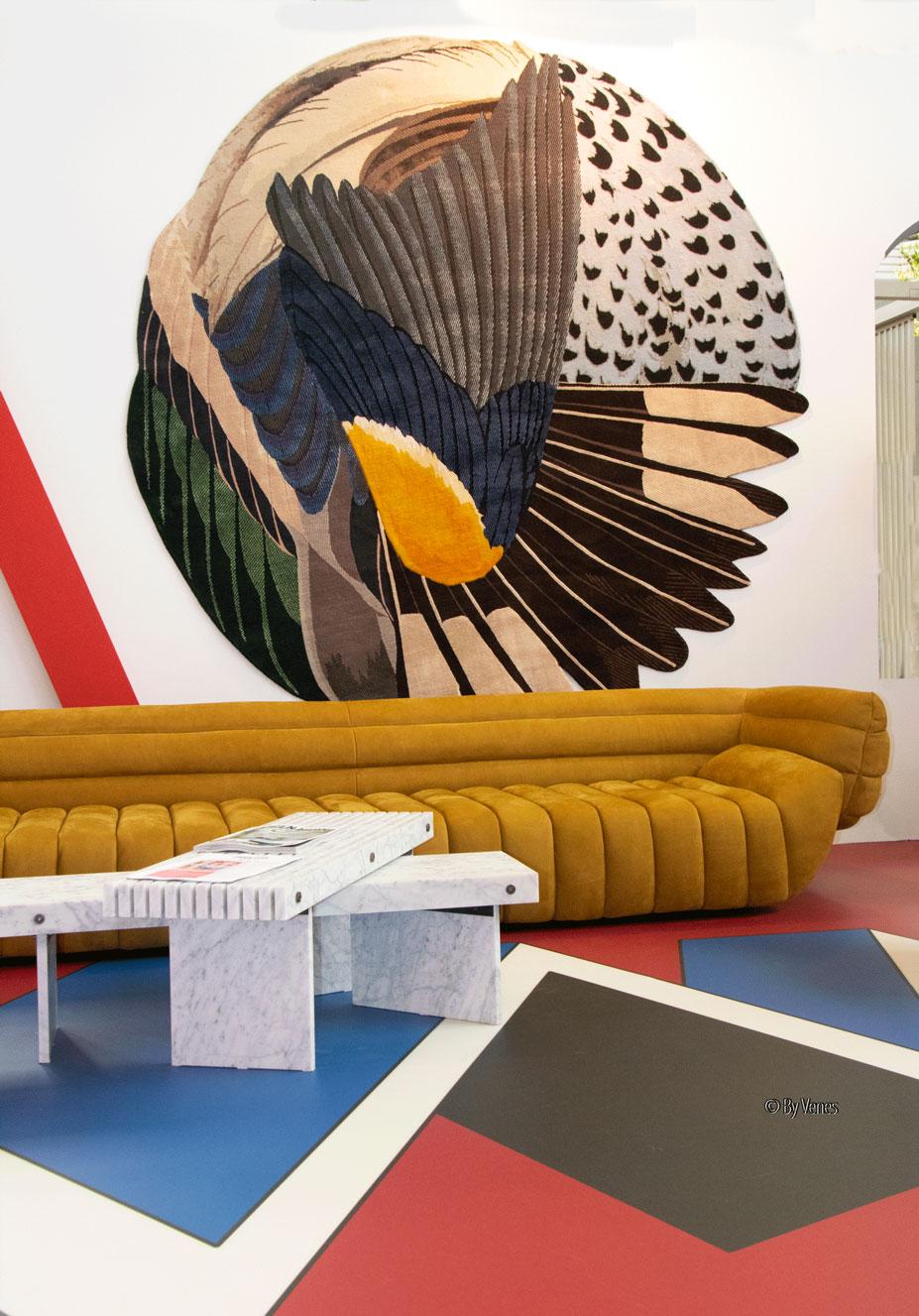 Muurdecoratie wandkleed Maarten de Ceulaer. Eigen huis & interieur