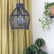 Bamboe lamp zwart urban jungle interieur