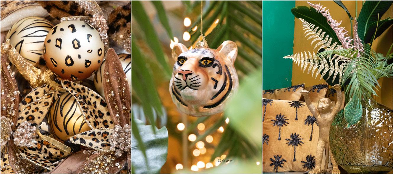 kersttrends 2019 kersthanger dierenprint luipaard tijger