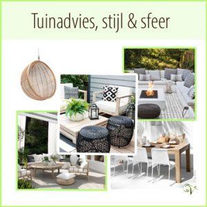 Tuin inrichten met meubels en accessoires.Online tuinadvies stijl & sfeer