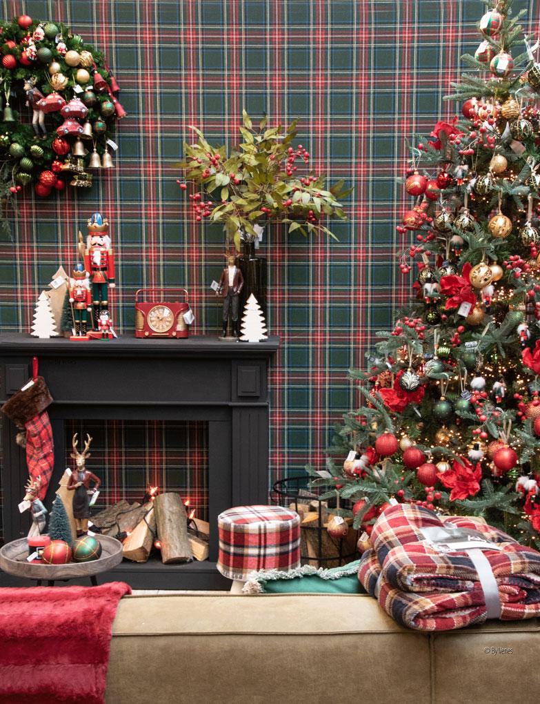 kersdecoratie Klassiek Engels kerst ruit