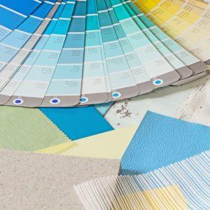 kleur en materiaal zomer fris geel en blauw