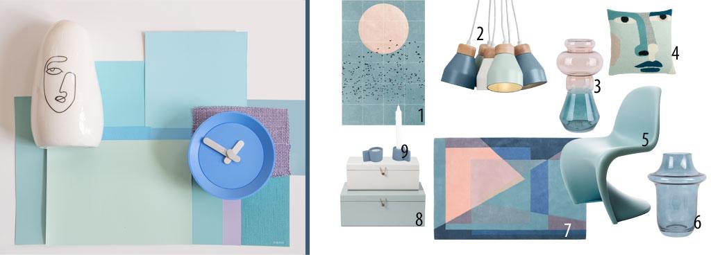Blauw in je interieur soft tones