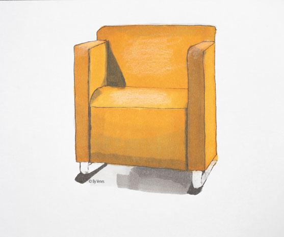 Fauteuil oranje By Venes