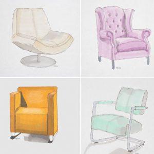 Nieuwe meubels uitzoeken