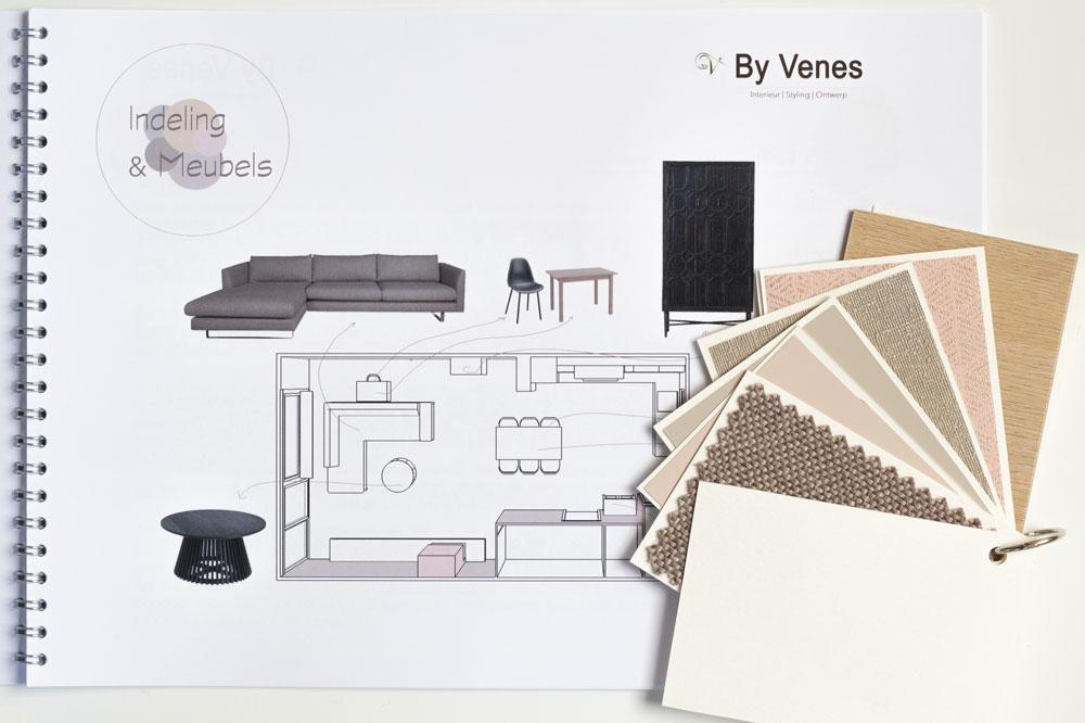 Interieurplan woonkamer Delft